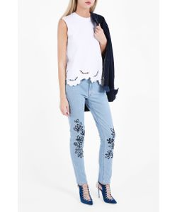 Victoria, Victoria Beckham | Victoria Victoria Beckham Womens Leaf Embroidered Jeans Boutique1