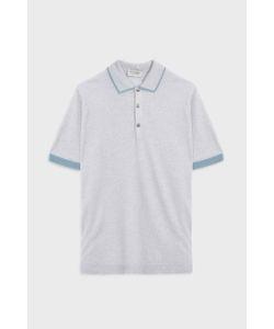 John Smedley   Nailsea Tipped Collar Merino Wool Polo Shirt