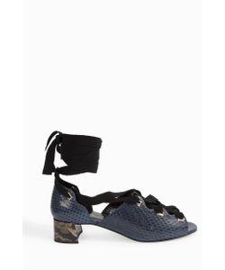 Erdem | Snakeskin Lace-Up Block Heels Boutique1