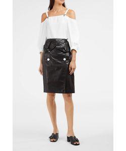 Proenza Schouler | Button Detail Leather Skirt Boutique1