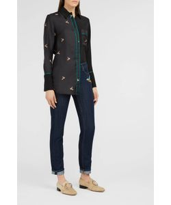Victoria, Victoria Beckham | Hummingbird Silk Pyjama Shirt