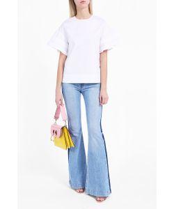 Victoria, Victoria Beckham | Ruffle Trim Cotton Top Boutique1