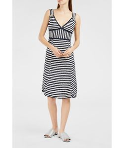 Spencer Vladimir | Crochet-Knit Stripe Midi Dress Boutique1