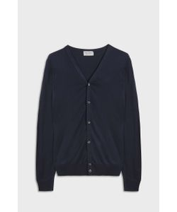 John Smedley   Mens Whitchurch V-Neck Cotton Cardigan Boutique1