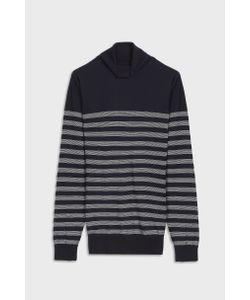 John Smedley   Mens Tenby Striped Cotton Pullover Boutique1