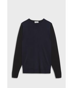John Smedley   Mens Hindlow Crew Neck Merino Wool Pullover Boutique1