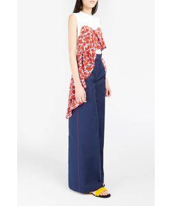 MSGM | Womens Stitch-Detail Wide-Leg Trousers Boutique1