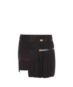 Anthony Vaccarello | Asymmetric Side Plisse Skirt