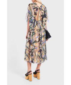 Rochas | Printed Pleat Dress Boutique1