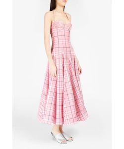 Natasha Zinko   Plaid Brocade-Detailed Corset Dress Boutique1
