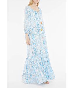 Athena Procopiou | 70s Sky-Print Maxi Dress Boutique1