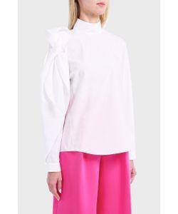 Delpozo | Womens Bow Cotton Shirt Boutique1