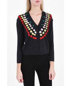 Marco de Vincenzo | Womens Bow Embellished Cardigan Boutique1