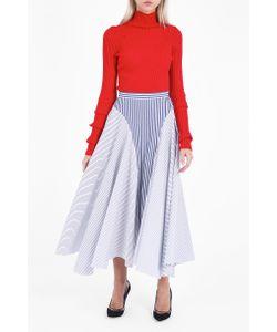 Adam Lippes | Asymmetric Striped Skirt Boutique1