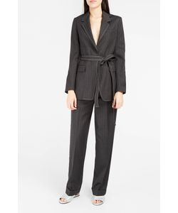 Helmut Lang | Womens Pinstripe Paperbag Trousers Boutique1