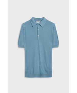 John Smedley   Mens Roth Short Sleeve Cotton Polo Shirt Boutique1