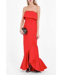 Oscar de la Renta | Strapless Ruffle Gown Boutique1