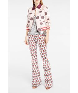 Giamba | Flower-Print Flared Trousers Boutique1