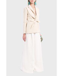 Delpozo | Womens Leaf Crepe Blazer Boutique1