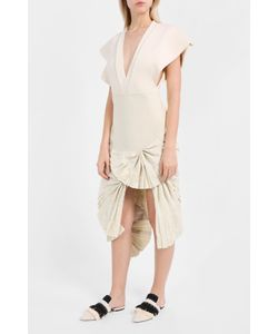 Jacquemus | Ruffle Cream Skirt Boutique1
