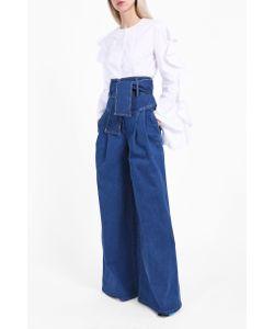 Sara Battaglia | High-Waisted Denim Trousers Boutique1