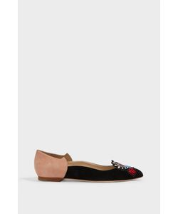 Paula Cademartori | Monica Embroidered Point-Toe Flats Boutique1
