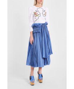Vivetta   Vipera Embroidered Blouse Boutique1