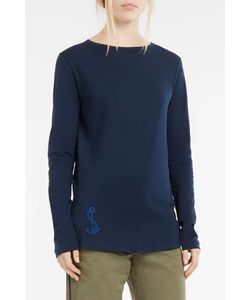 The Gigi | Anchor-Embroide Long-Sleeved T-Shirt Boutique1