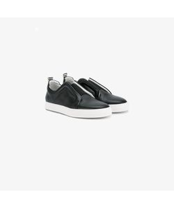 Pierre Hardy | Leather Slider Sneakers With Contrasting Heel Counter
