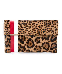 Tomasini   Leopard Print Ponyskin Leather Clutch