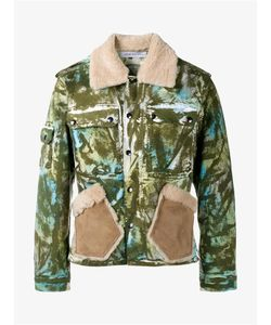 James Long | Camouflage Work Jacket With Sheepskin Collar