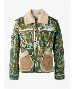 James Long | Camouflage Work Jacket With Sheepskin Collar