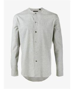 Curieux   Collarless Cotton Shirt