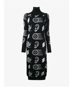 Ashley Williams   Merino Wool Intarsia Knit Turtle Neck Dress