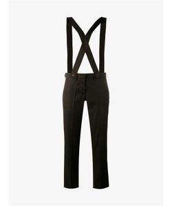 Ashley Williams | Wool Cropped Trousers With Suspenders
