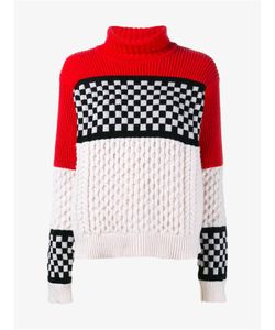 Ashley Williams | Merino Cashmere Blend Check Cable Sweater