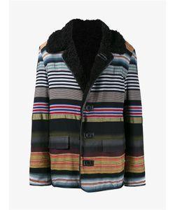 James Long | Striped Shearling Coat