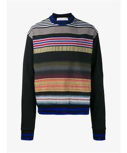 James Long | Cotton Blend Stripe Sweatshirt