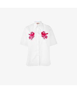 No21   Bird Embroidered Short-Sleeved Shirt
