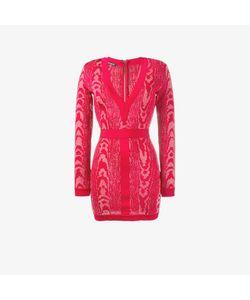 Balmain | Moire Patterned Mini Dress