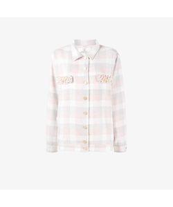 Natasha Zinko | Pearl Embellished Check Shirt