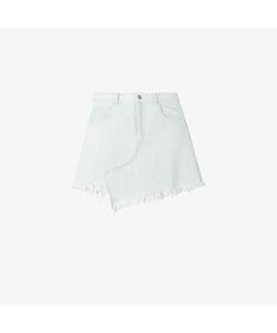 Sandy Liang | Asymmetric Frayed Denim Skirt