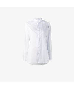 Marie Marot | Half Stripe Collarless Shirt