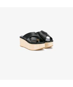 Robert Clergerie   Crossover Flatform Sandals