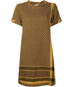 Cecilie Copenhagen   Keffiyeh Cotton Short Sleeve Dress