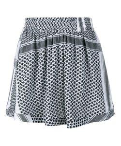 Cecilie Copenhagen   Keffiyeh Print Cotton Skirt