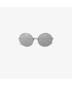 Linda Farrow | Plated Round Frame Sunglasses