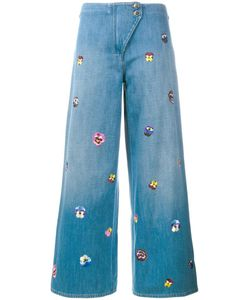 Christopher Kane   Pansy Embroidered Culottes