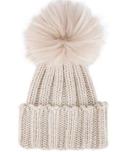 Inverni | Racoon Fur Pom Pom Beanie