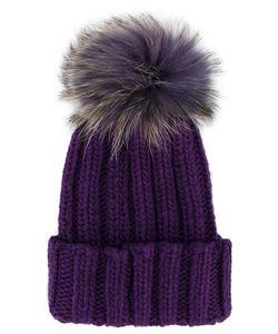 Inverni | Ribbed Fur Pom Pom Beanie